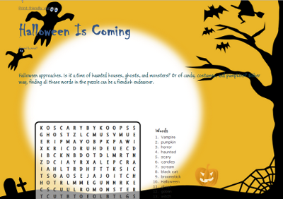 halloween sample word search